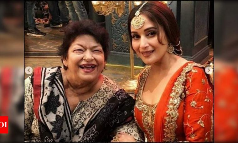 Madhuri Dixit shares a throwback video with Saroj Khan, reveals iconic song 'Ek Do Teen' was choreographed in flat 20 minutes; watch video | Hindi Movie News
