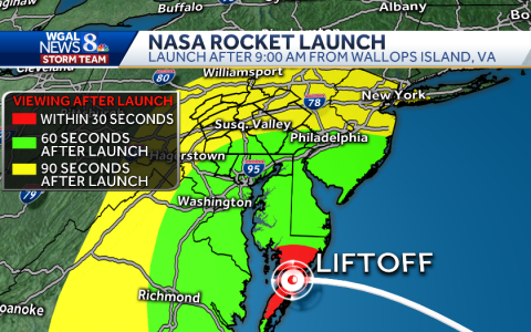 ROCKET LAUNCH will be visible from south-central Pennsylvania