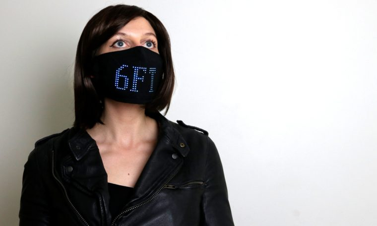 Look at this cool LED face mask made by a fashion entrepreneur
