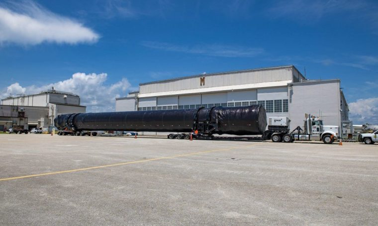 The Falcon 9 rocket for SpaceX's next NASA astronaut flight arrives at launch site (photo)