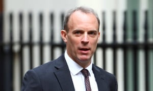 Britain's Foreign Secretary Dominic Raab