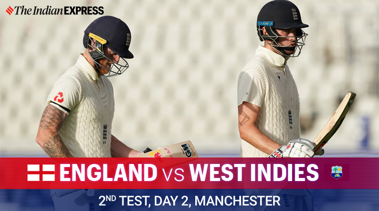 england vs west indies, eng vs wi, eng vs wi day 2, eng vs wi live score