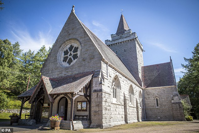 Crathie Kirk where Queen Elizabeth II usually attends Sunday Service during her summer break at Balmoral