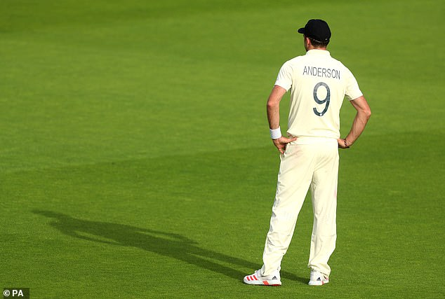 Anderson looked a frustrated figure during England's three-wicket victory last week