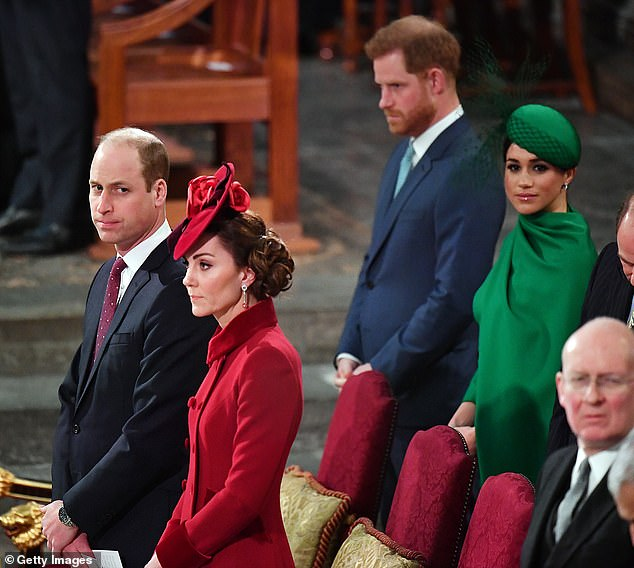 Falling out: However the author denied that Meghan and Kate had anything to do with the rift between Princes Harry and William, insisting that the brothers fell out on their own