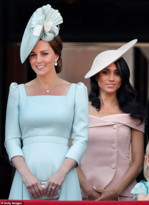 Tension: Scobie said that Meghan never felt entirely welcome in the royal family, and that she did not feel as though she received enough - or indeed any - support from Kate Middleton