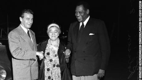 Vincent Hallinan (left) Progressive candidate for President, Charlotta Bass and Paul Robeson.