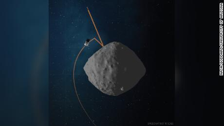 This artist's concept shows the spacecraft's trajectory.