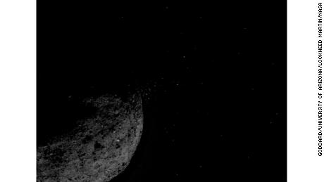NASA mission catches nearby asteroid ejecting material into space