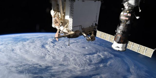 Hurricane Genevieve photographed from space. (Chris Cassidy/NASA)