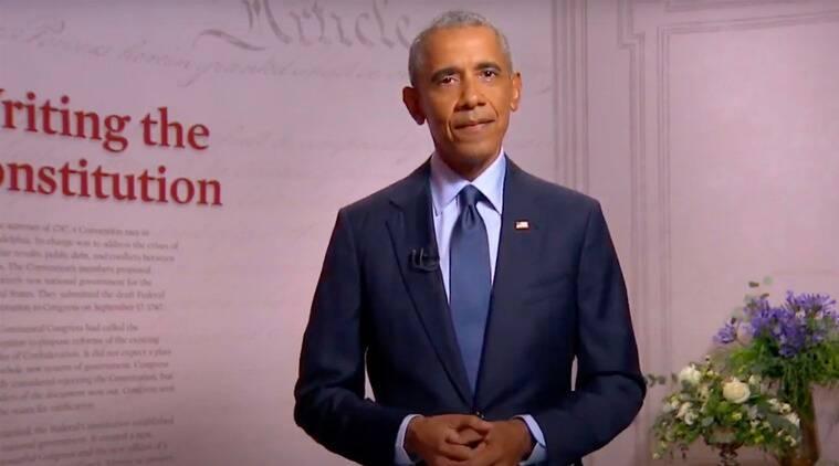 Kamala Harris, Democratic National Convention, Kamala Harris nomination, Joe Biden, Obama on Trump, Obama speech, Indian Express