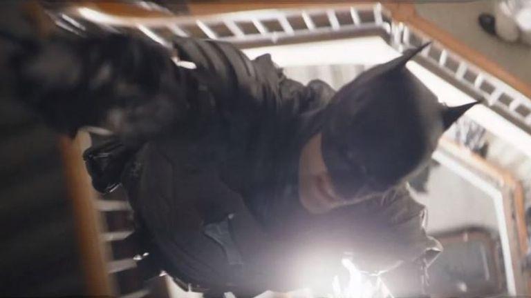 Robert Pattinson is The Batman. Pic: Warner Bros