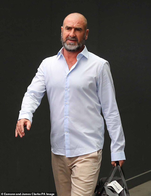 Iconic:Rounding out the reported names is former Manchester United star Eric Cantona, who was reportedly at the top of bosses wish list for this series