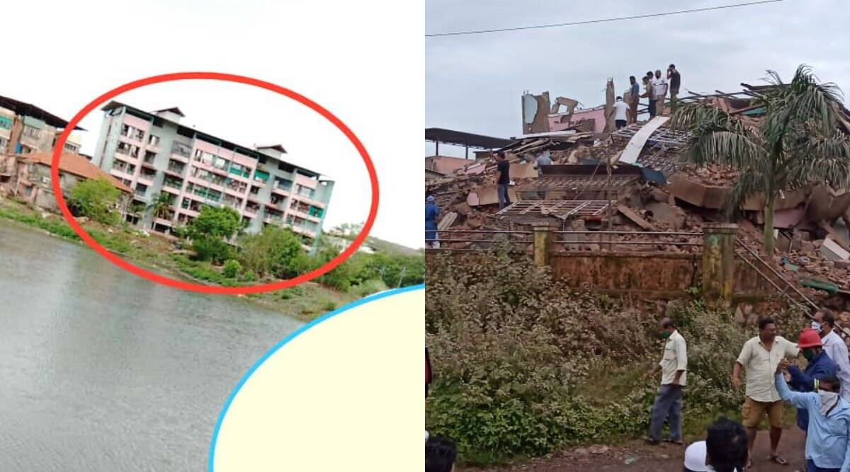 Mahad building collapse, building collapse Maharashtra, building collapse near Mumbai, Mahad building collapse rescue, NRDF, MLA Bharat Gogavale, indian express