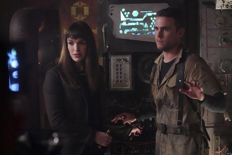 elizabeth henstridge, iain de caestecker in agents of shield