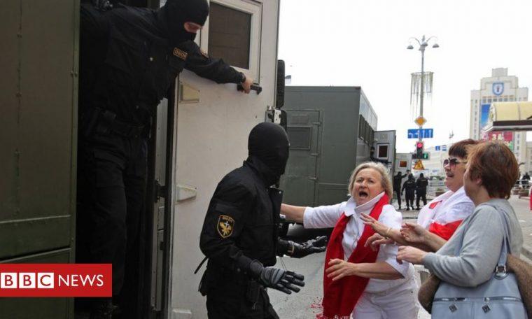 Belarus: Heavy security for anti-Lukashenko rally in Minsk