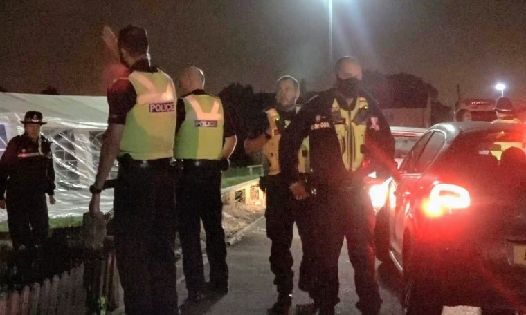 Police break up a large party in Birmingham