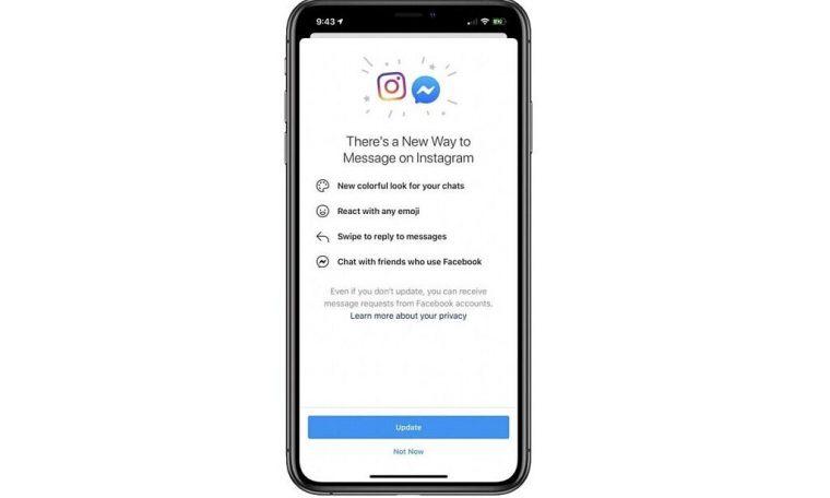 Instagram Facebook Messenger integration