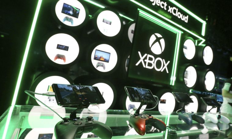 IMAGE DISTRIBUTED FOR XBOX - Gamers will get hands on with Project xCloud at the Xbox E3 Showcase in the Microsoft Theater at L.A. Live, Sunday, June 9, 2019 in Los Angeles. (Photo by Casey Rodgers/Invision for Xbox/AP Images)