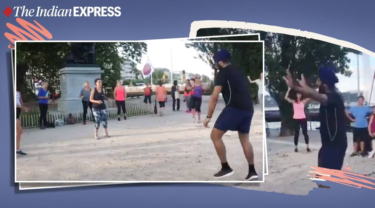 Diljit Dosanjh, G.O.A.T., Switzerland, Women, Bhangra dance Switzerland, Viral video, Bhangra dance videos, Punjabi dance, Trending news, Indian Express news