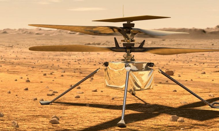 First-ever space helicopter is en route to Mars aboard NASA's rover
