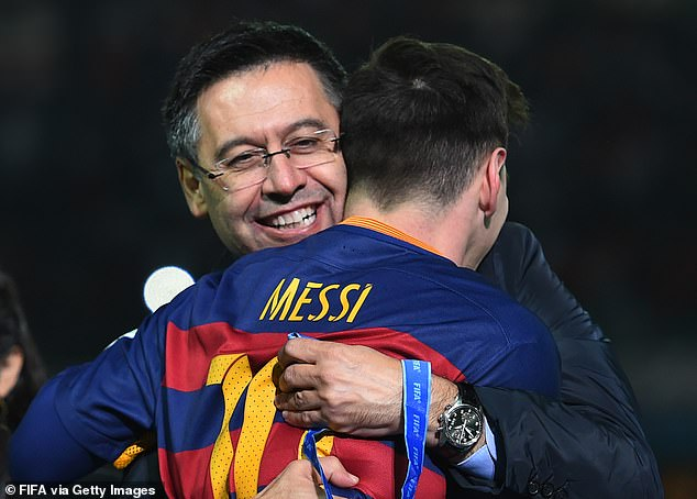 Bartomeu and Messi have been at loggerheads since the captain announced his intention to leave.