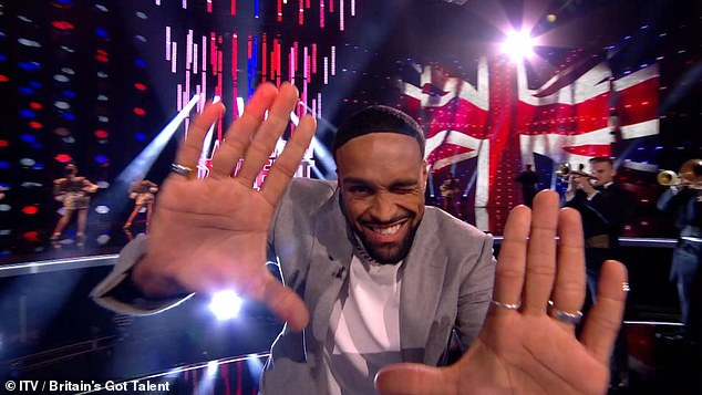 Smooth move: BGT winner Ashley Banjo is filling in for Head Judge Simon Cowell, who is currently recovering from a freak bicycle accident in Los Angeles.