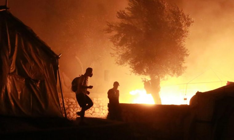 Lesbos: Fire 'destroys' Europe's largest migrant camp