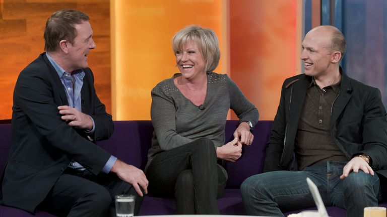 Phil Tufnell, Sue Barker and Matt Dawson March 11, 2011