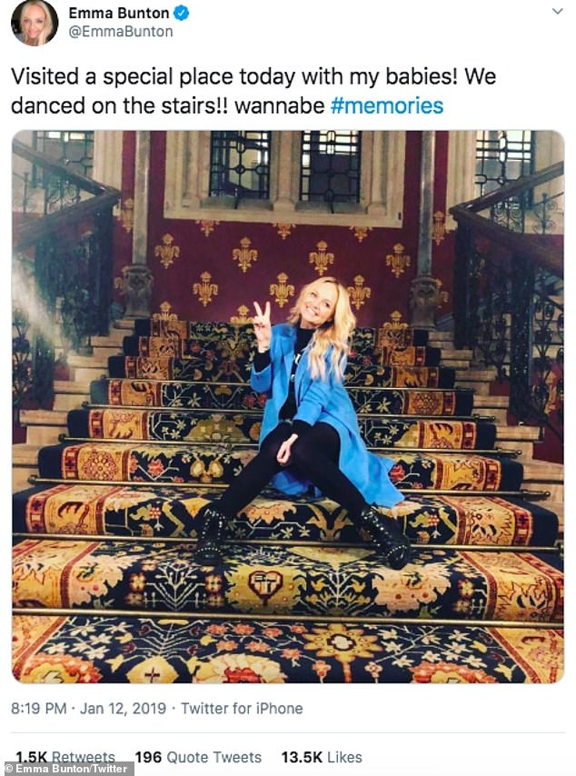 Memories: Emma visits the now iconic Vanbab Stairs in London in January 2019