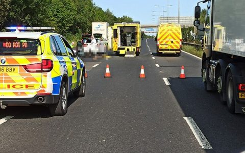 BREAKING: Man dies after terrorist crash on M60