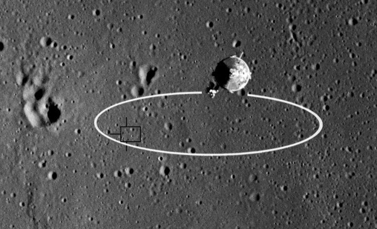 Apollo 11 landing elliptical