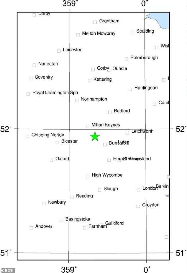 According to the BGS, the latest quake was reported about six miles deep and a little north of Leighton Buzzard.