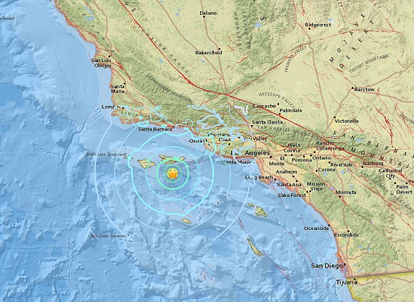 At 10:30 a.m. Thursday, a magnitude 5.3 earthquake shook the Channel Islands off the coast of Southern California.