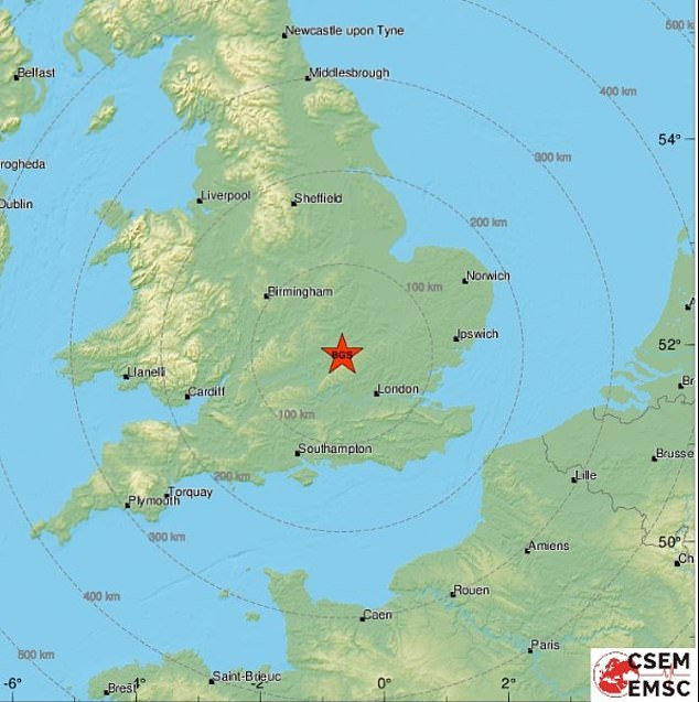 The second Layton Bazard quake earlier this month was thought to be the aftershock of a magnitude 3.5 earthquake on September 8.  Picture: A map showing an earthquake earlier this month