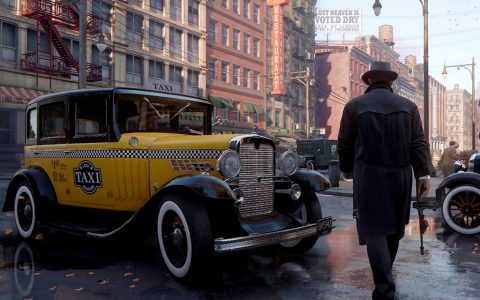 Mafia: Definitive Edition video game on Xbox One.