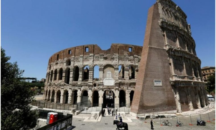 The iconic colosseum