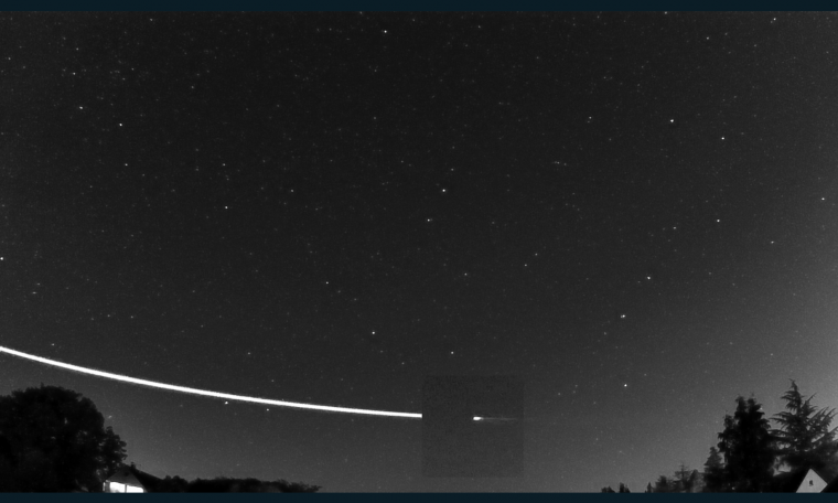 The earthgrazer streaked across the sky above Germany (ESA)