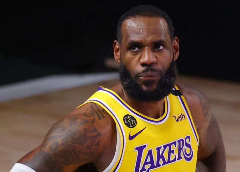LeBron James did not appreciate being brought up in a complex conversation about Giannius Antitocompo.  (Photo by Kevin C. Cox / Getty Images)