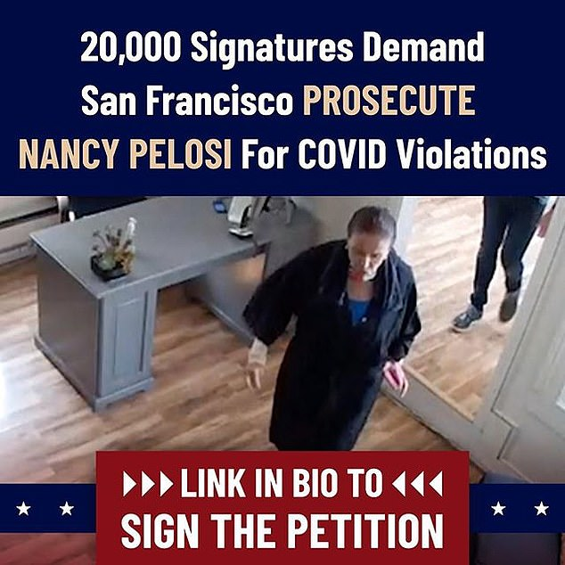 A petition has received 16k signatures seeking to prosecute Nancy Pelosi for
