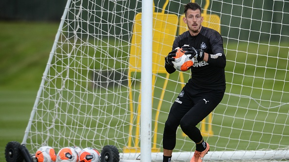 Slovakia will be without Newcastle goalkeeper Martin Dúbravka for their Euro2021 playoff against Ireland. File photograph: Getty Images