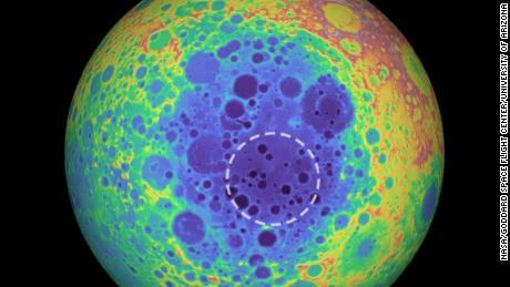 A huge mass has been embedded in the center of the moon and astronomers are not sure what it is.
