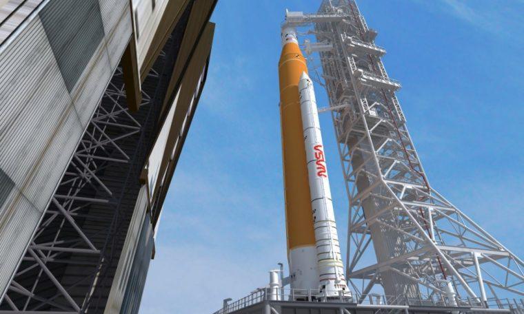 NASA decorates Artemis Moon rocket with vintage worm logo after SpaceX flight debut