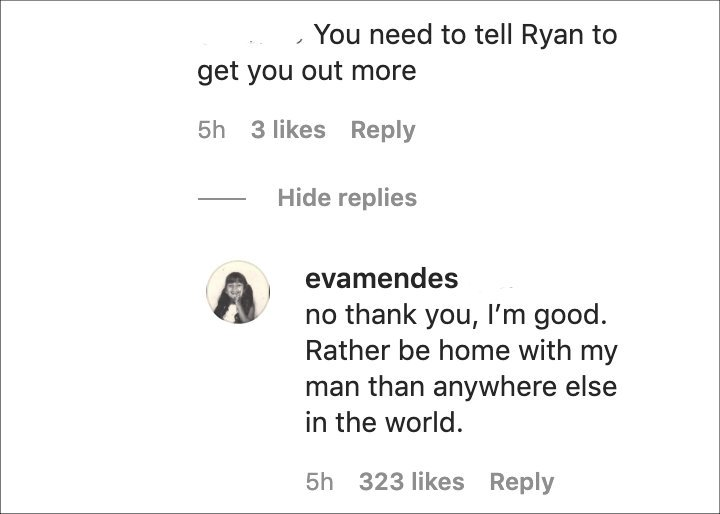 Eva Mendes responded to the troll's comments on her IG post
