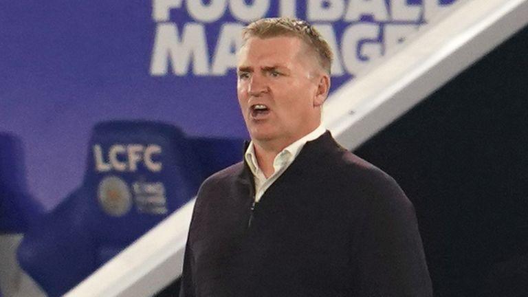 Dean Smith, Achan Villa Manager at Leicester