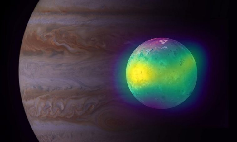 The images show new insights into Jupiter's volcanic moon Io