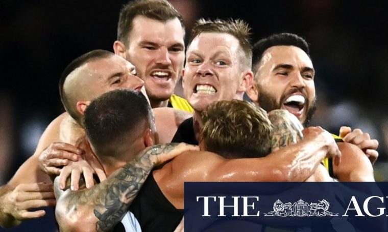 The Richmond Tigers did it the hard way to win their third flag in four years
