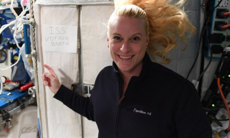 United States astronaut cast her absentee ballot from 253miles above the Earth