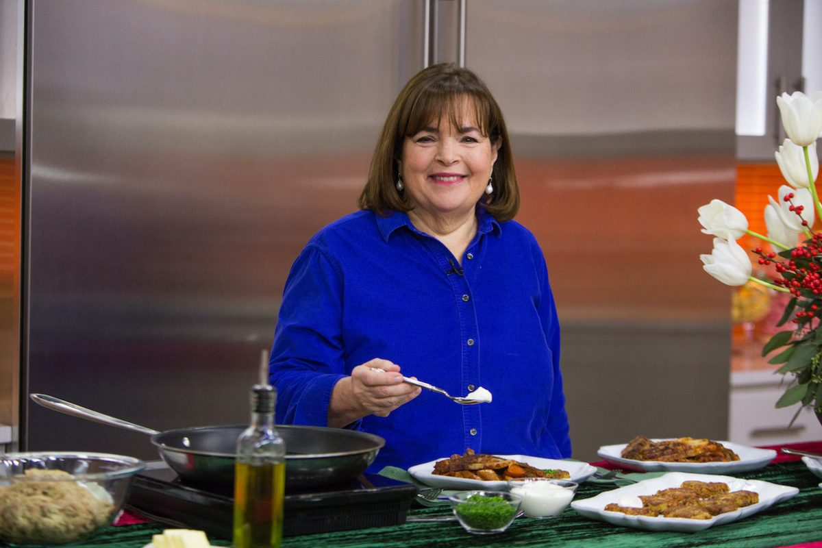 Ina Garten smiles as she cooks on season 66 of 'Today'