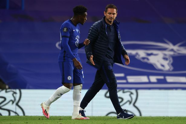 Frank Lampard spoke with Column Hudson-Odoi